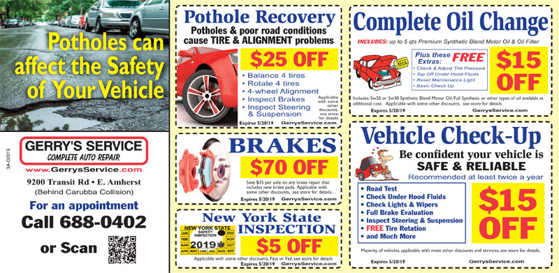 picture relating to Printable in Transit Sign for Car named Motor vehicle Repair service Coupon codes within Amherst, NY